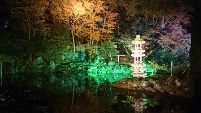 海石塔のライトアップ2