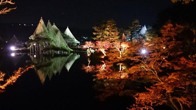 栄螺山からのライトアップ