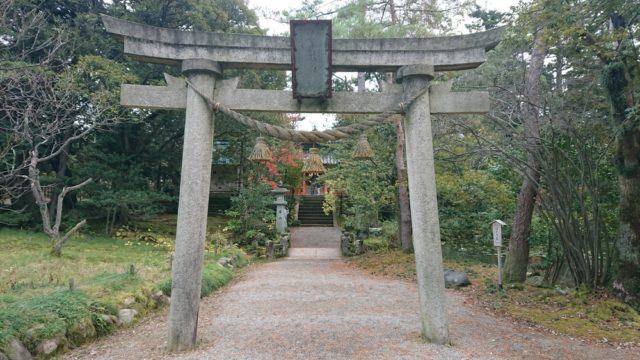 金澤神社の兼六園側の鳥居